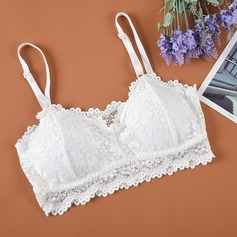 Lace/Cotton Bandeau Low-key Feminine Bra