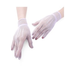 Nylon Wrist Length Bridal Gloves (014151730)