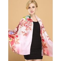 Floral Neck/fashion/simple Mulberry silk Scarf