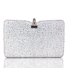 Elegant Silk/Crystal/ Rhinestone Clutches