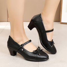Women's Microfiber Leather Heels Pumps Latin Modern Ballroom Character Shoes With Ankle Strap Hollow-out Dance Shoes