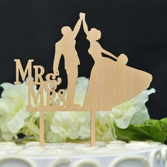 Dancing Couple Wood Cake Topper