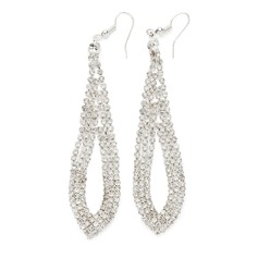 Elegant Alloy/Rhinestones Ladies' Earrings