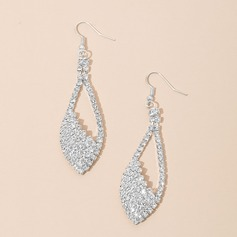 Charming Alloy/Rhinestones/Silver Plated Ladies' Earrings