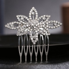 Ladies Handmade Alloy Combs & Barrettes With Rhinestone