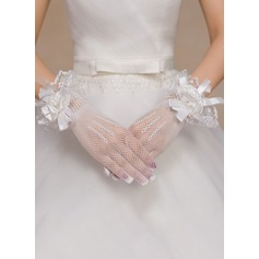 Spandex Wrist Length Bridal Gloves