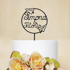 Personalized Mr. & Mrs./Wreath Acrylic Cake Topper