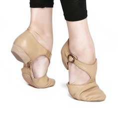 Women's Real Leather Flats Jazz Dance Shoes (053121379)
