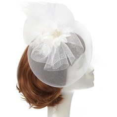 Charming Feather/Net Yarn Fascinators