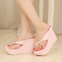 Women's Leatherette Wedge Heel Sandals Pumps Platform Slippers shoes