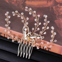 Ladies Exquisite Rhinestone/Alloy/Imitation Pearls Combs & Barrettes With Rhinestone/Venetian Pearl (Sold in single piece)
