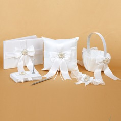 Gorgeous Collection Set in Satin With Ribbons/Rhinestones/Pearl