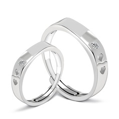 Simple 925 Sterling Silver Couples' Rings