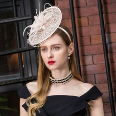 Ladies' Fashion/Special/Eye-catching Cambric With Feather Beret Hat/Kentucky Derby Hats