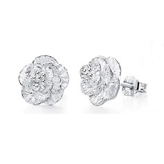 Beautiful Silver Girls' Fashion Earrings