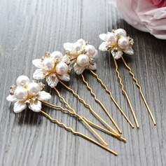 Lovely Alloy/Imitation Pearls Hairpins (Set of 4)