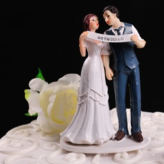 "Figurine ""We Did"" Resin Wedding Cake Topper"