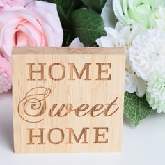 """Home Sweet Home"" Simple/Classic Square Design/Letter Bamboo Wedding Ornaments/Wedding Sign"