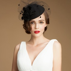 Ladies' Vintage Wool/Net Yarn Fascinators (196165416)