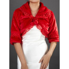 Half-Sleeve Faux Fur Special Occasion Wrap