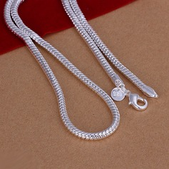 Snake Shaped Silver Plated Copper Men's Fashion Necklace