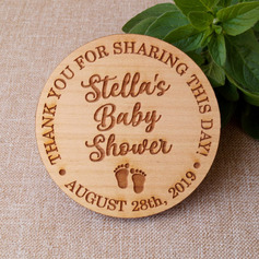Personalized Baby Shower Wooden Save-the-date Magnets