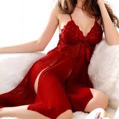 Chinlon Bridal/Feminine/Fashion Sleepwear Sets (041085918)