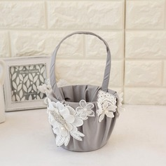 Beautiful Flower Basket in Satin With Flower (102093303)
