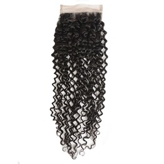 6A Indian Virgin/remy Curly Closure (Sold in a single piece)