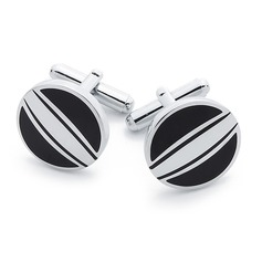 Simple Round Zinc Alloy Cufflink