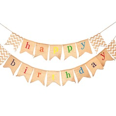 "Simple/Classic/""Happy Birthday"" Lovely/Elegant Linen Wedding Ornaments"