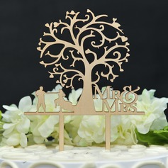 Classic/Mr. & Mrs. Wood Cake Topper
