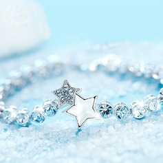 Unique Alloy Crystal With Rhinestone Ladies' Fashion Bracelets (Sold in a single piece)