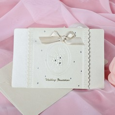 Blomstrete Stil Top Fold Invitation Cards med Buer