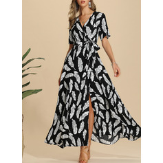 Polyester With Print Maxi Dress (199222462)