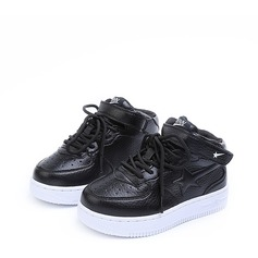 Unisex Closed Toe Leatherette Flat Heel Sneaker & Athletic With Velcro Lace-up