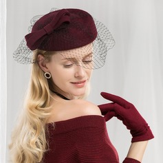 Ladies' Fashion/Glamourous/Elegant Wool With Tulle Beret Hats/Tea Party Hats