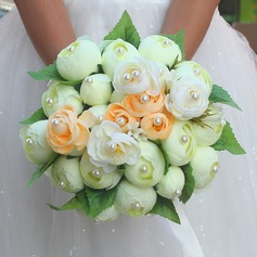 Round Plastic Bridal Bouquets (Sold in a single piece) -