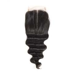"4""*4"" 4A Non remy Loose Human Hair Closure (Sold in a single piece) 100g"