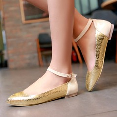 Women's Leatherette Flat Heel Flats With Split Joint shoes