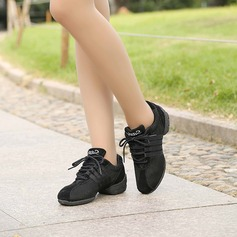 Unisex Fabric Sneakers Jazz Sneakers Tango With Lace-up Dance Shoes
