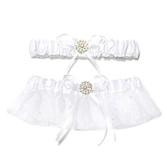 2-Piece Pure Organza With Beading Wedding Garters