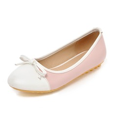 Women's Leatherette Flat Heel Flats Closed Toe shoes (086089837)