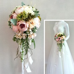 Romantic Satin Bridal Bouquets/Bridesmaid Bouquets - (123116594)