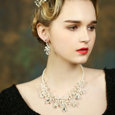 Elegant Pearl/Rhinestones Ladies' Jewelry Sets