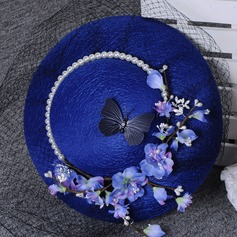 Ladies' Gorgeous Polyester With Flower Floppy Hat