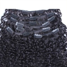 4A Non remy Kinky Curly Human Hair Clip in Hair Extensions (Sold in a single piece) 100g (235151178)