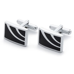 Simple Rectangular Zinc Alloy Cufflink