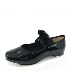 Women's Patent Leather Flats Tap Dance Shoes