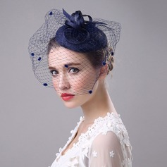 Ladies' Beautiful/Elegant/Eye-catching Cambric With Tulle Fascinators